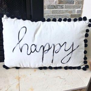 Primitives by Kathy Velvet Happy Decorative Pillow